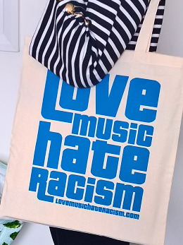 Love Music Hate Racism tote bag