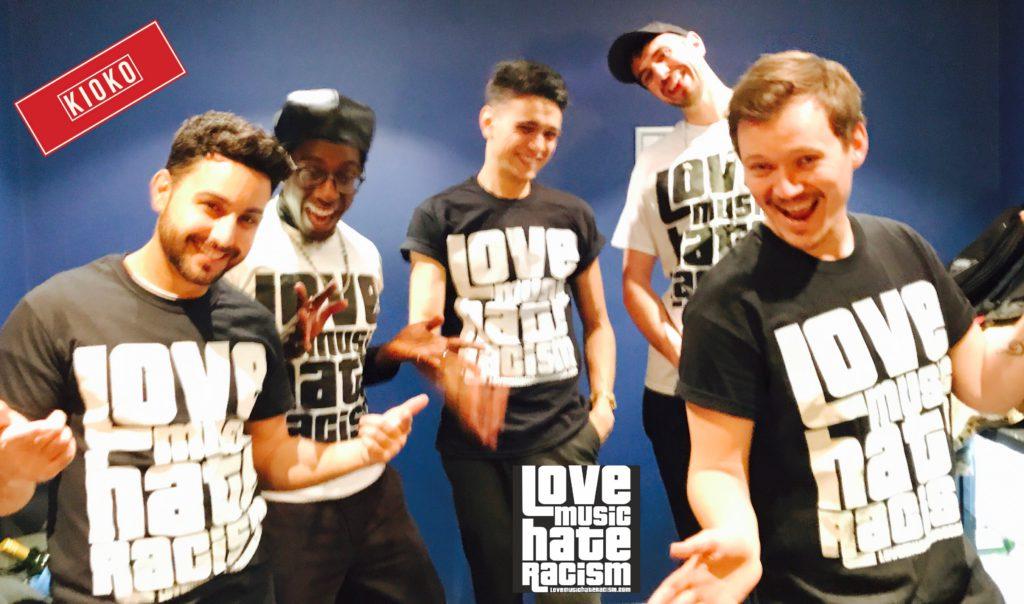Birmingham band Kioko supporting Love Music Hate Racism