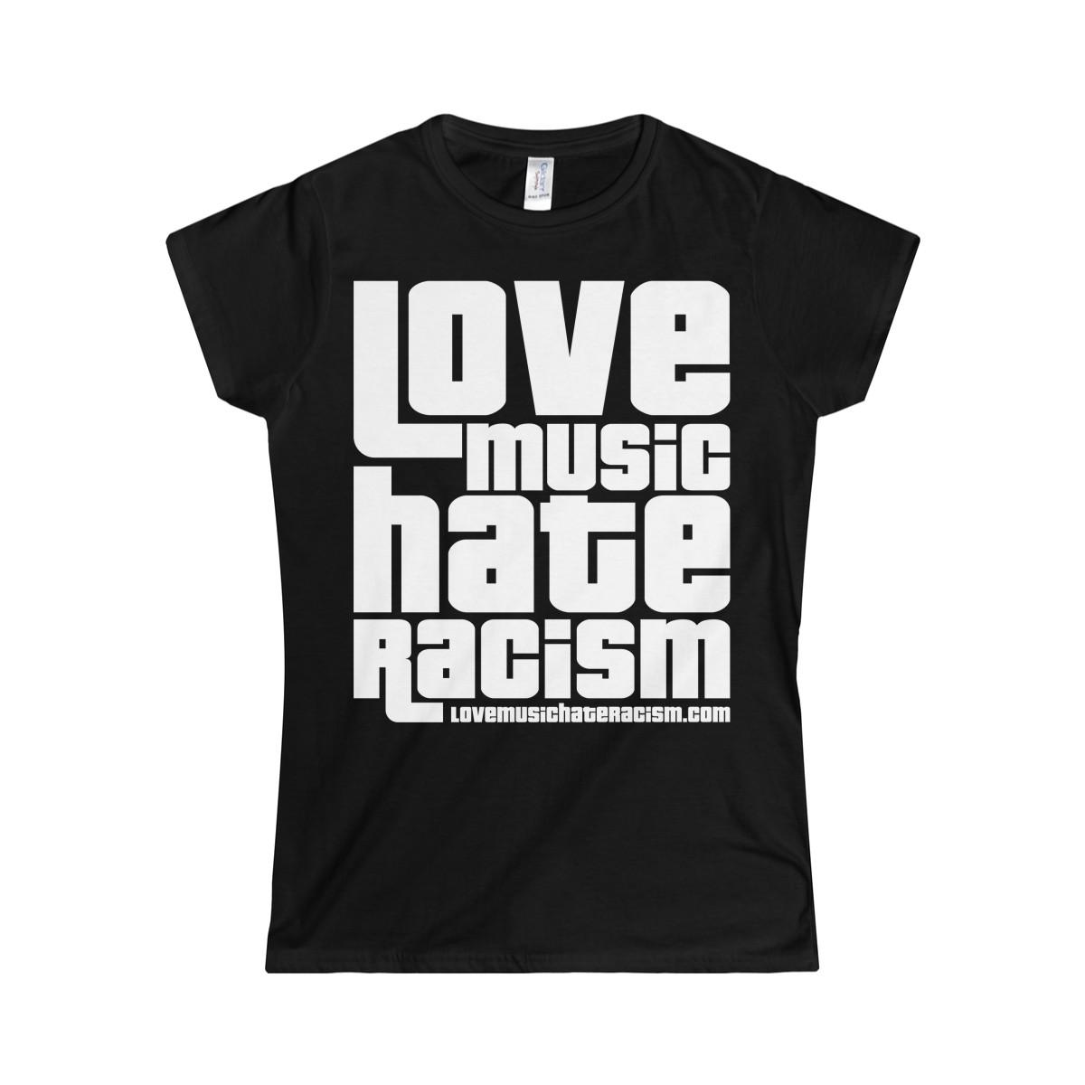 02cffa28 Description. Get the Original Love Music Hate Racism t-shirt.