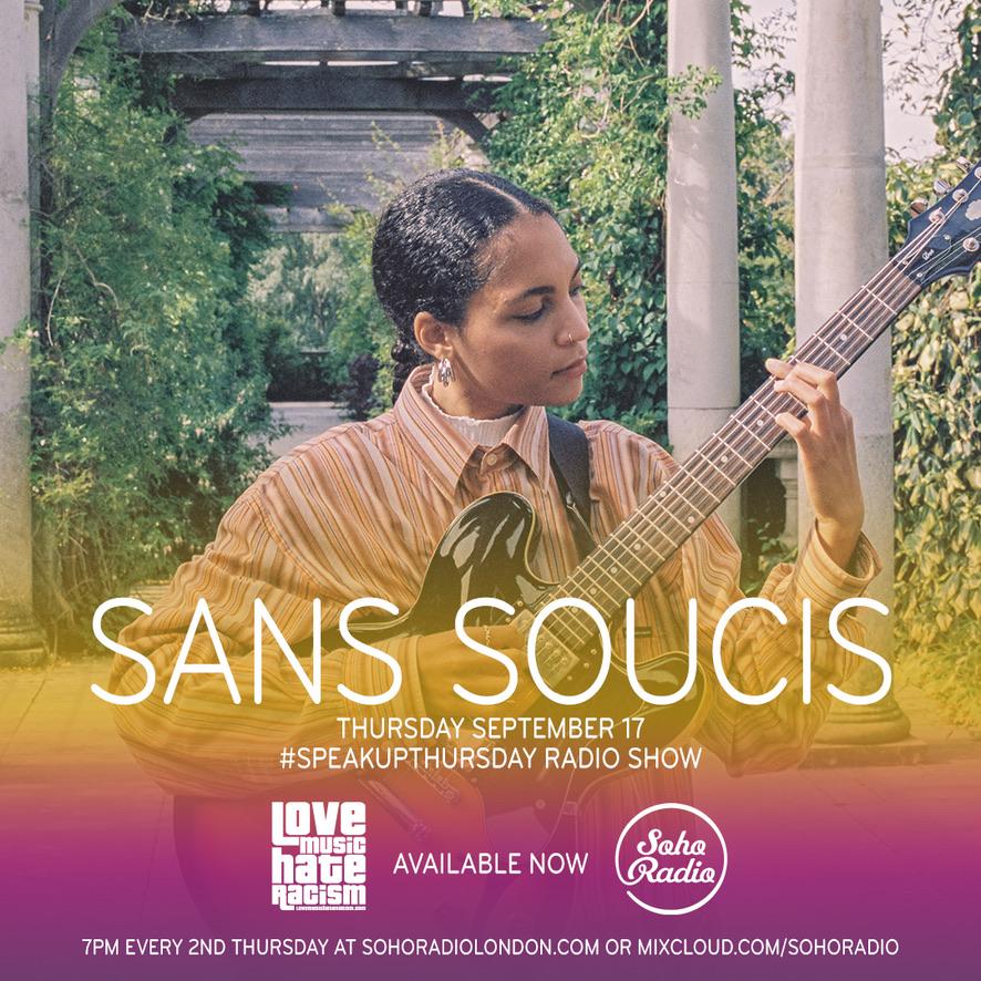 #speakupthursday  featuring Sans Soucis